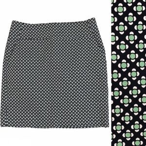 Ann Taylor Geometric Print Skirt